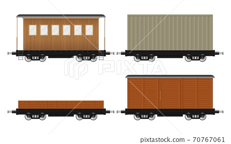 Set of train wagons vector illustration isolated on white background 70767061