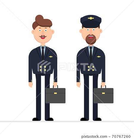Plane pilot character vector illustration isolated on white 70767260