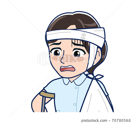 Nurse in a light blue uniform 70780568