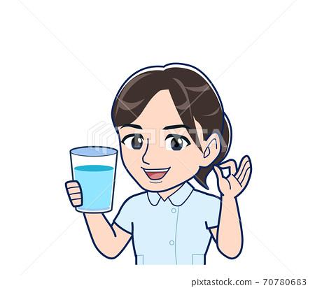 Nurse in a light blue uniform 70780683