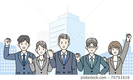 團隊合作的商人男人和女人 70781626