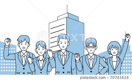 團隊合作的商人男人和女人 70781628