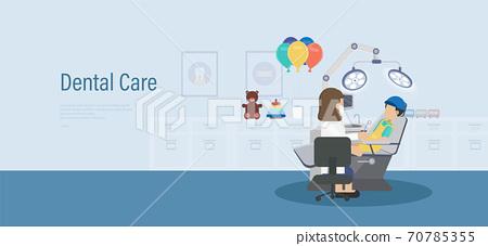 Dental care banner 70785355
