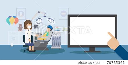 Blank screen monitor in dental clinic 70785361