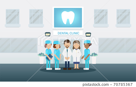 Dental clinic with medical staff 70785367