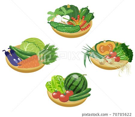 4種漏勺蔬菜-沒有乾線 70785622