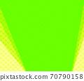 노란색과 연두색의 물방울과 연두색의 무지 복사 공간 배경 70790158