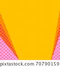 핑크와 오렌지의 물방울과 노란색 계열의 단색 복사 공간 배경 70790159