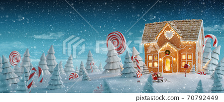 Amazing fairy Christmas house 70792449