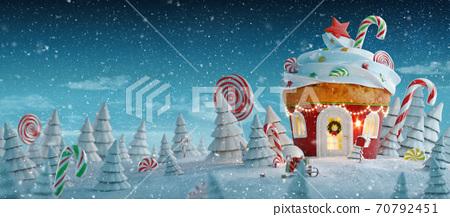 Amazing fairy Christmas house 70792451