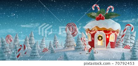 Amazing fairy Christmas house 70792453