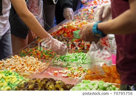 春節,台北,年貨大街,糖果,春祭り、台北、ニューイヤーストリート、キャンディー、candy, 70795756