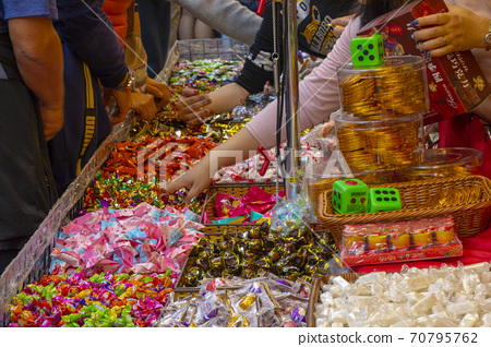 春節,台北,年貨大街,糖果,春祭り、台北、ニューイヤーストリート、キャンディー、candy, 70795762