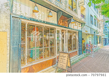 [Anime style] Tokyo cityscape Scenery around Fire Street, Jinnan 1-chome, Shibuya-ku 70797981