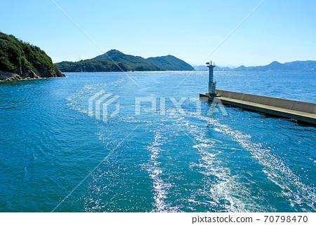 [香川]從名古屋島到音島島的輪渡欣賞瀨戶內海的景色 70798470