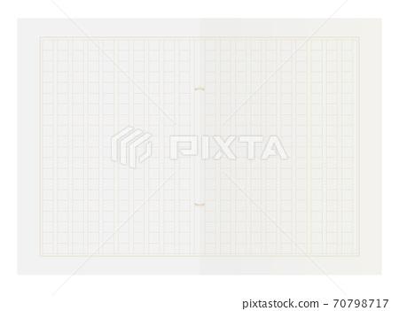 手稿紙插圖(包裝400個字符) 70798717