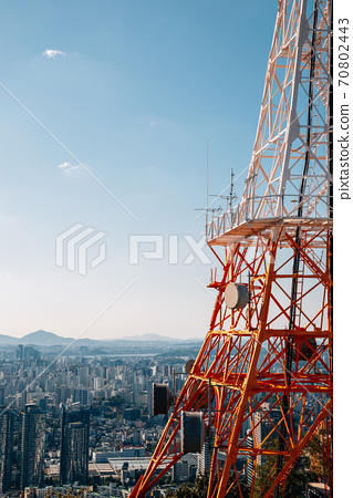 Panoramic view of Seoul city from Namsan tower in Seoul, Korea 70802443