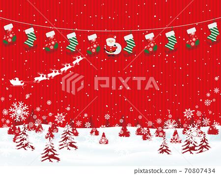 聖誕節圖像素材 70807434