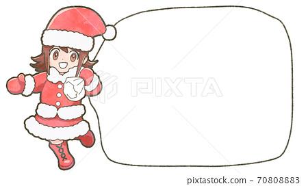 데포 소녀 산타의 일러스트, 복사 공간 포함 70808883