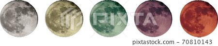 滿月每種顏色 70810143