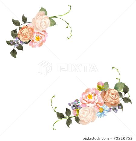 水彩花花束裝飾 70810752