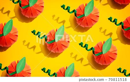 Paper craft autumn pumpkins 70811518