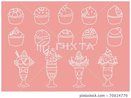 Cupcake parfait vector illustration 70814770