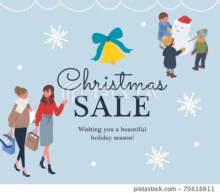 聖誕節銷售橫幅等距聖誕節人圖 70818611