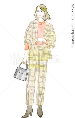 一個時髦的女人的插圖 70823323