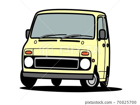 復古輕型車淺黃色車圖 70825700
