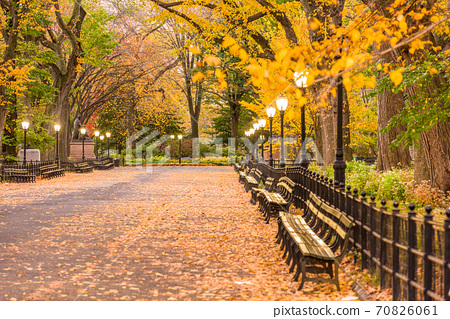 Central Park at The Mall in New York City 70826061