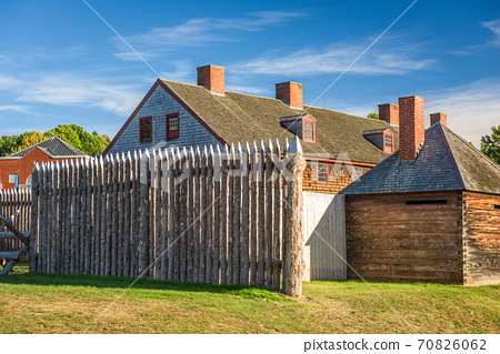 Augusta, Maine, USA at historic Fort Western 70826062
