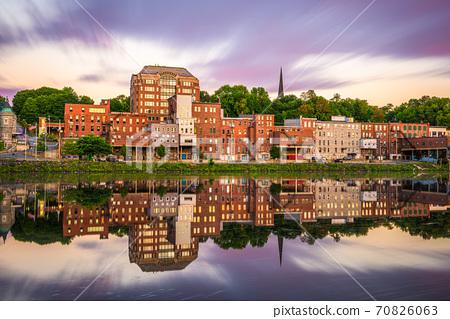 Augusta, Maine, USA Downtown Skyline 70826063