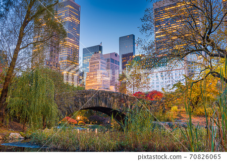 Central Park during autumn in New York City 70826065