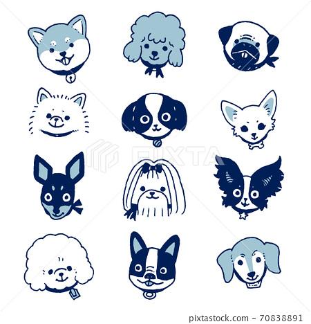小狗(藍色) 70838891