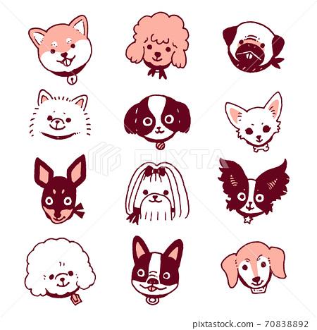小狗(粉紅色) 70838892