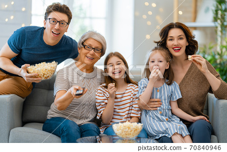 Happy family spending time together. 70840946