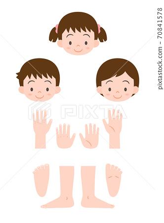 Toddler limbs parts 70841578