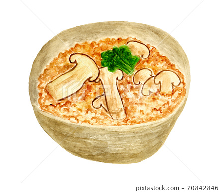 松茸飯(水彩畫) 70842846