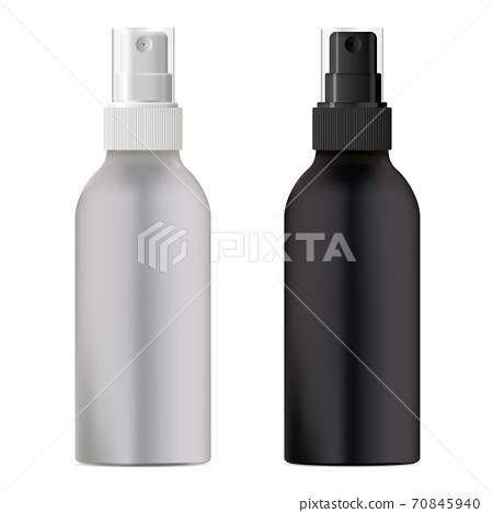 Cosmetic spray bottle. Black and white packaging 70845940