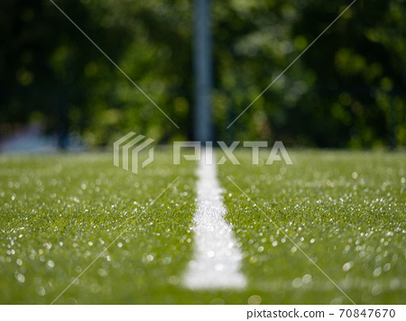 Lines on soccer football field, sport background 70847670