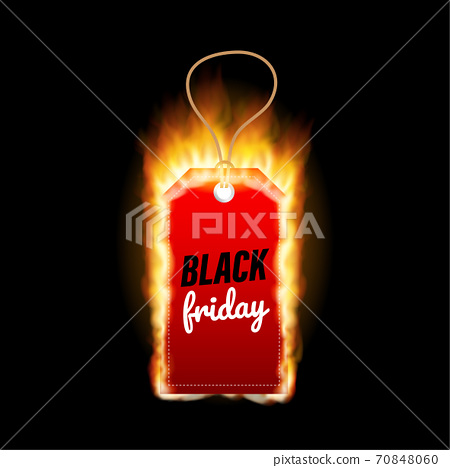 Black Friday sales. Black friday design, sale, discount, advertising, marketing price tag, sale, discount, advertising, marketing price tag. Vector stock illustration. 70848060