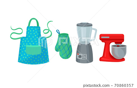 Blender and Mixer as Kitchen Appliance Vector Set 70860357