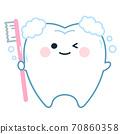 牙刷(牙膏)的牙齒特徵 70860358