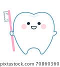 用牙刷牙字符 70860360