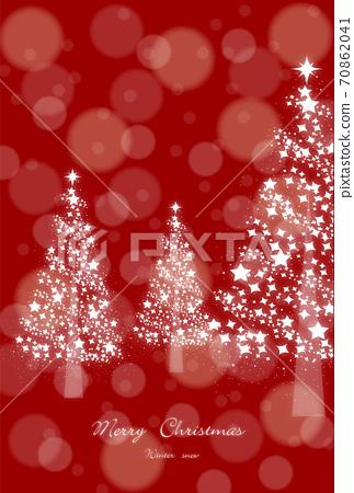 크리스마스 조명과 반짝이 트리 레드 70862041
