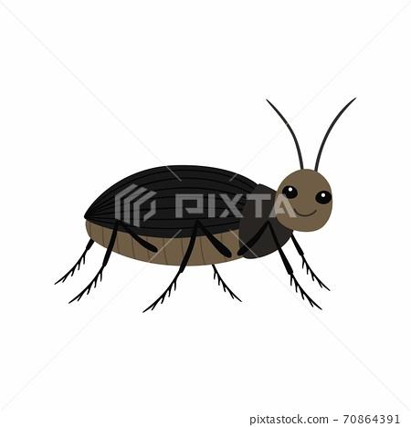 Black beetle on a white background vector illustration 70864391