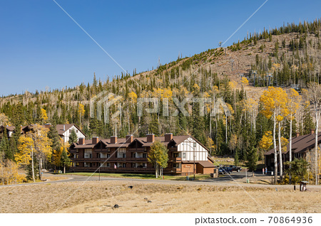 Sunny view of beautiful fall color around Brian Head area 70864936