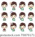 可愛男孩的各種面部表情(2) 70870171