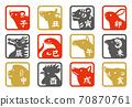 十二支撐漢子材料方型 70870761